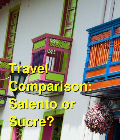 Salento vs. Sucre Travel Comparison