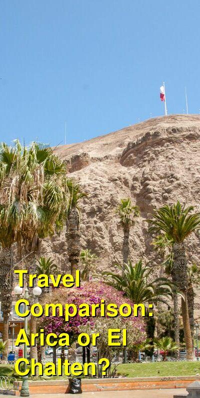 Arica vs. El Chalten Travel Comparison