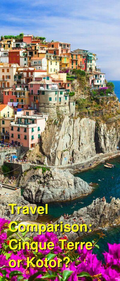 Cinque Terre vs. Kotor Travel Comparison