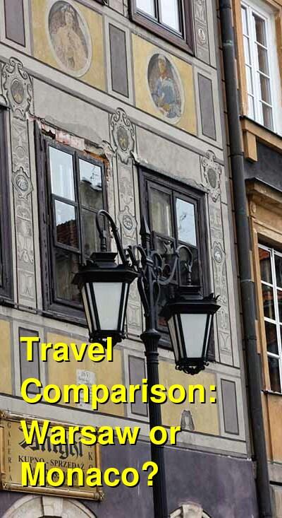 Warsaw vs. Monaco Travel Comparison