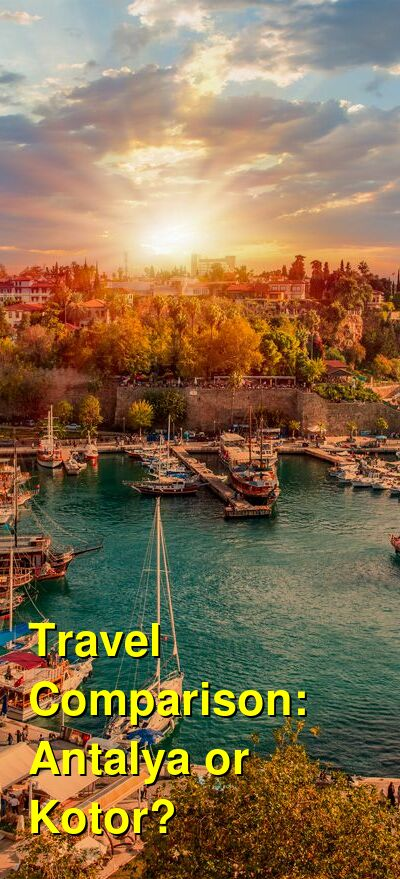 Antalya vs. Kotor Travel Comparison