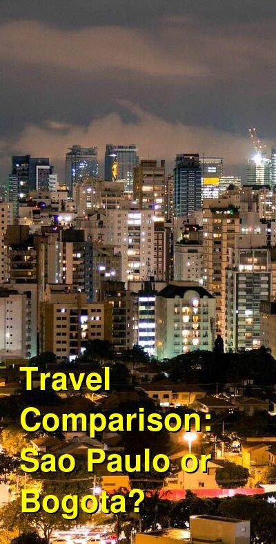Sao Paulo vs. Bogota Travel Comparison