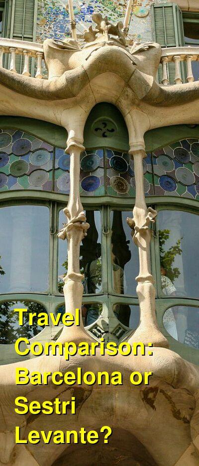 Barcelona vs. Sestri Levante Travel Comparison