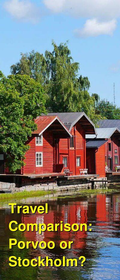 Porvoo vs. Stockholm Travel Comparison