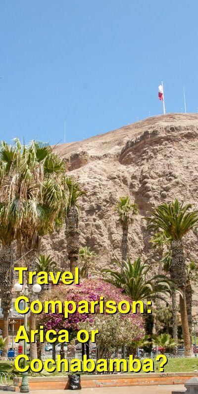 Arica vs. Cochabamba Travel Comparison