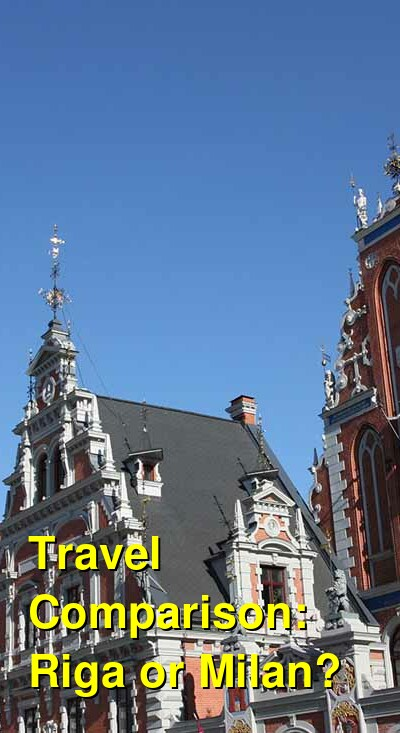 Riga vs. Milan Travel Comparison