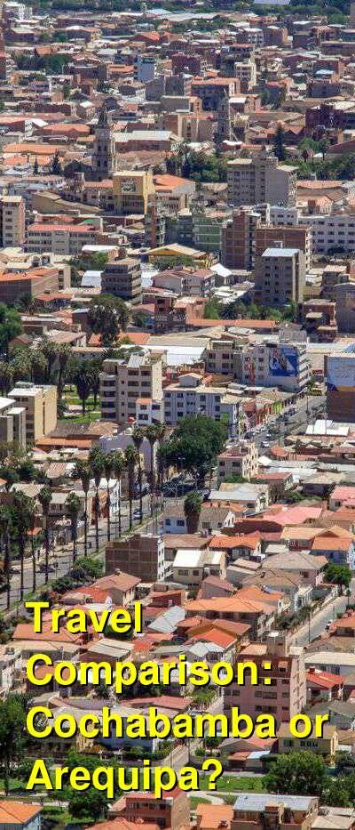 Cochabamba vs. Arequipa Travel Comparison
