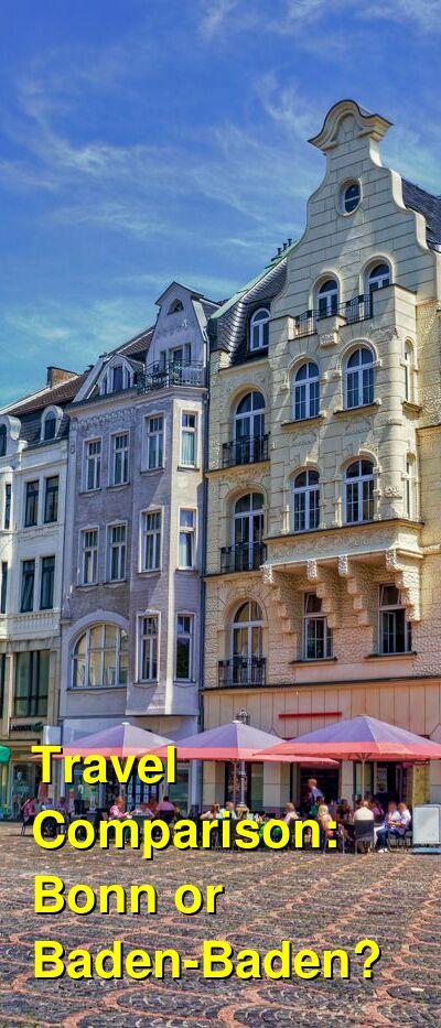 Bonn vs. Baden-Baden Travel Comparison