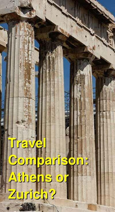 Athens vs. Zurich Travel Comparison
