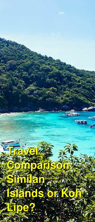 Similan Islands vs. Koh Lipe Travel Comparison