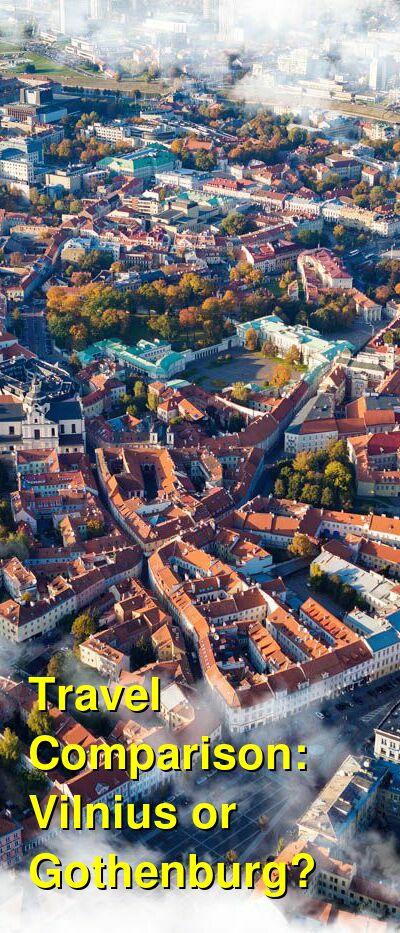 Vilnius vs. Gothenburg Travel Comparison