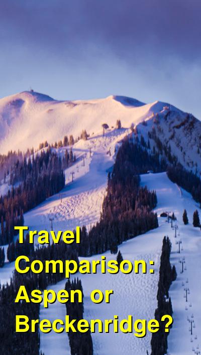 Aspen vs. Breckenridge Travel Comparison