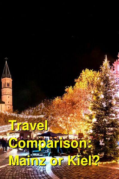 Mainz vs. Kiel Travel Comparison
