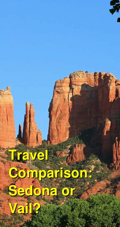 Sedona vs. Vail Travel Comparison