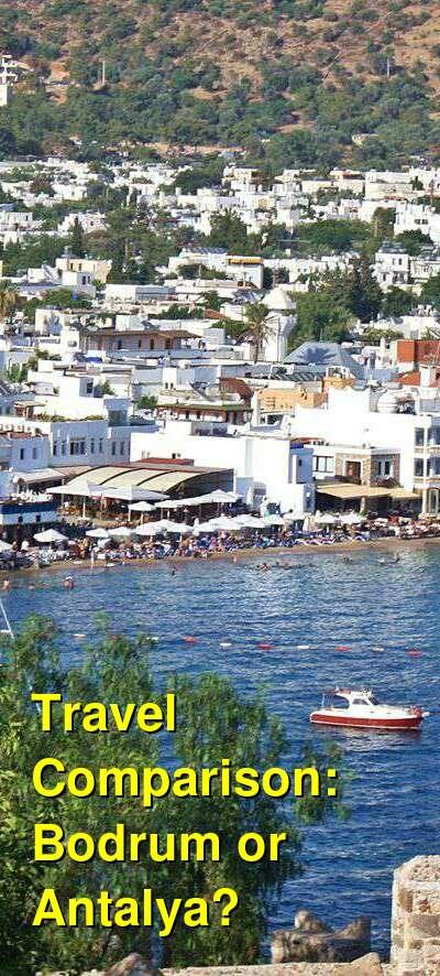 Bodrum vs. Antalya Travel Comparison
