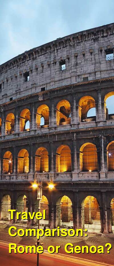 Rome vs. Genoa Travel Comparison