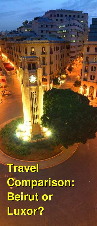 Beirut vs. Luxor Travel Comparison