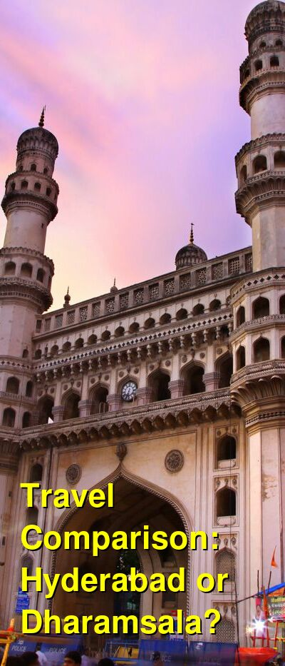 Hyderabad vs. Dharamsala Travel Comparison