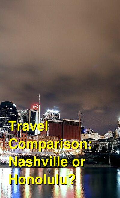Nashville vs. Honolulu Travel Comparison