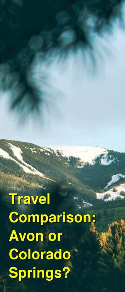 Avon vs. Colorado Springs Travel Comparison