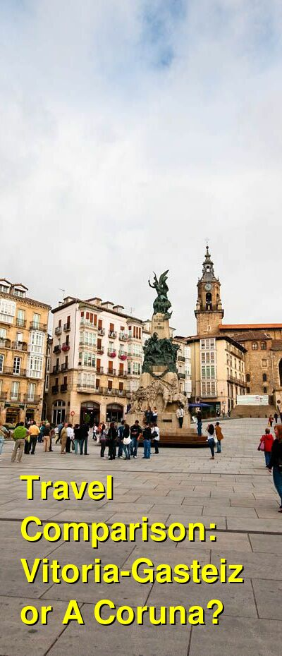 Vitoria-Gasteiz vs. A Coruna Travel Comparison