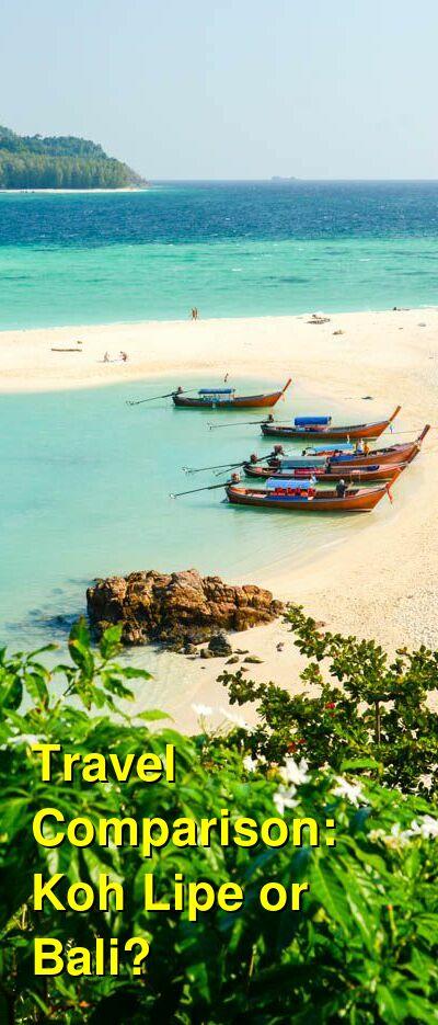 Koh Lipe vs. Bali Travel Comparison