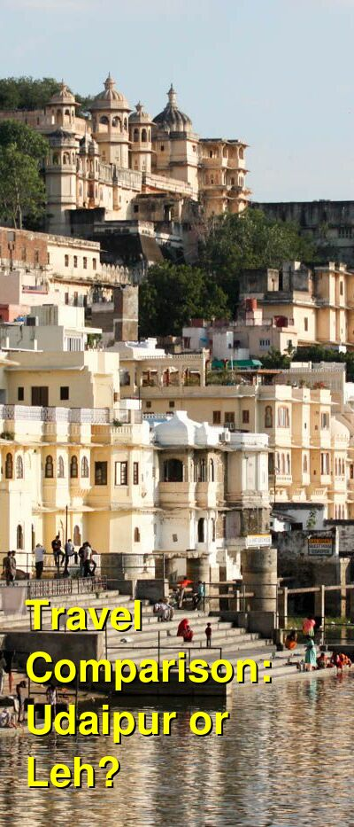 Udaipur vs. Leh Travel Comparison