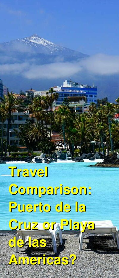 Puerto de la Cruz vs. Playa de las Americas Travel Comparison