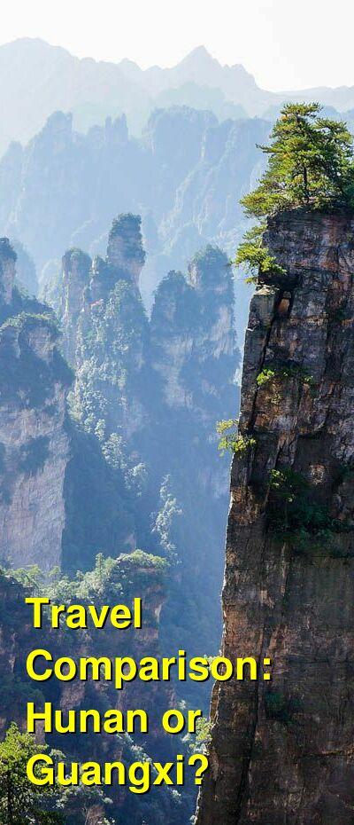 Hunan vs. Guangxi Travel Comparison
