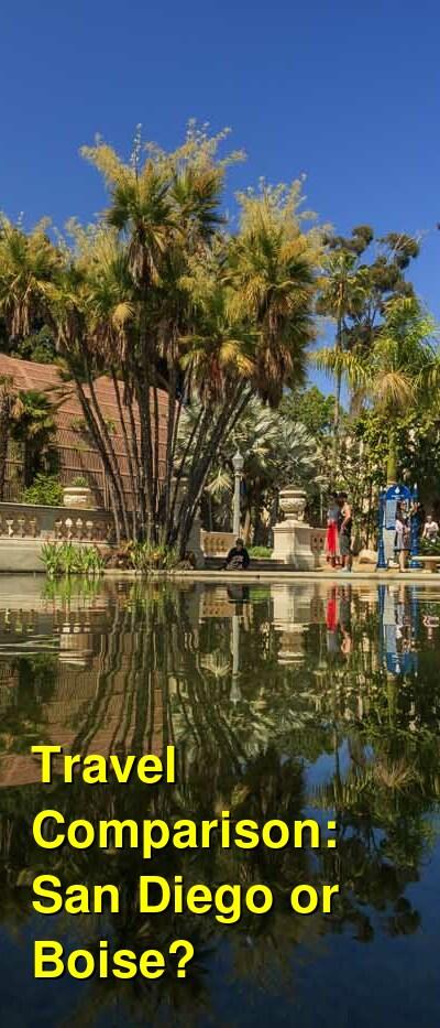 San Diego vs. Boise Travel Comparison