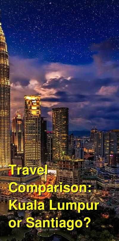 Kuala Lumpur vs. Santiago Travel Comparison