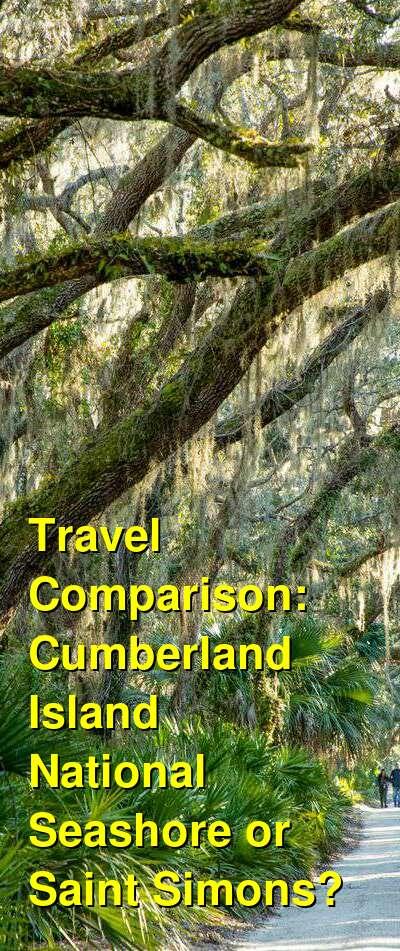 Cumberland Island National Seashore vs. Saint Simons Travel Comparison