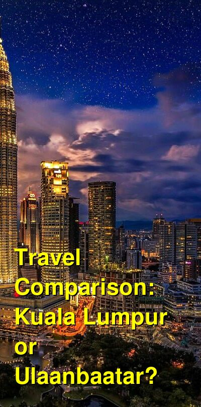 Kuala Lumpur vs. Ulaanbaatar Travel Comparison