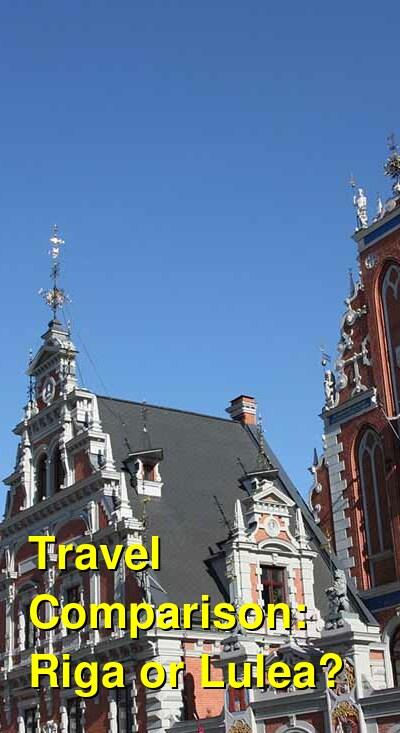 Riga vs. Lulea Travel Comparison