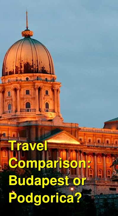 Budapest vs. Podgorica Travel Comparison