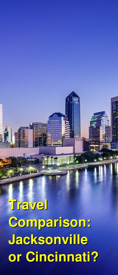 Jacksonville vs. Cincinnati Travel Comparison