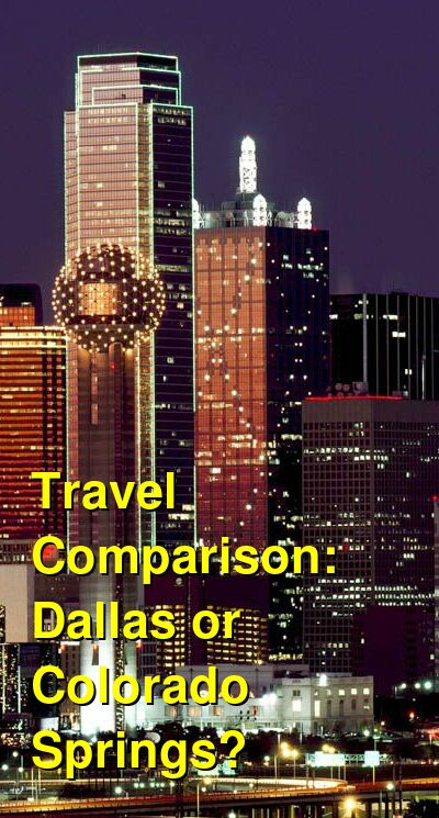 Dallas vs. Colorado Springs Travel Comparison