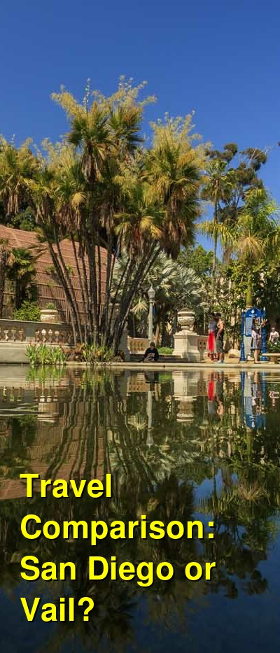 San Diego vs. Vail Travel Comparison