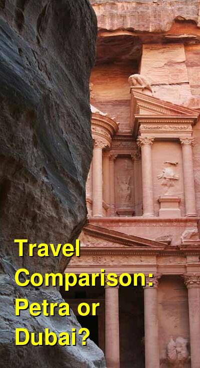 Petra vs. Dubai Travel Comparison