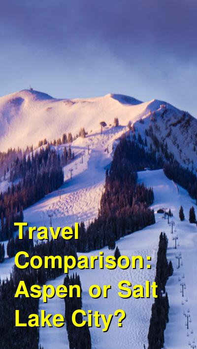 Aspen vs. Salt Lake City Travel Comparison