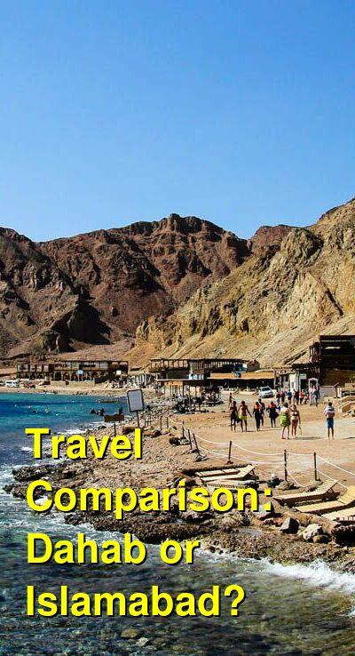Dahab vs. Islamabad Travel Comparison