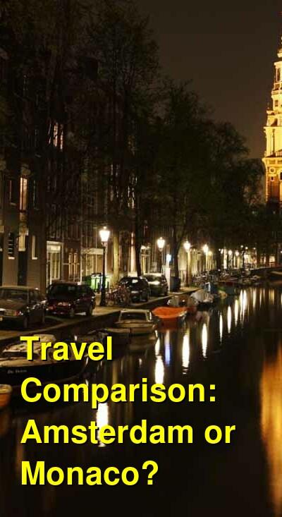 Amsterdam vs. Monaco Travel Comparison
