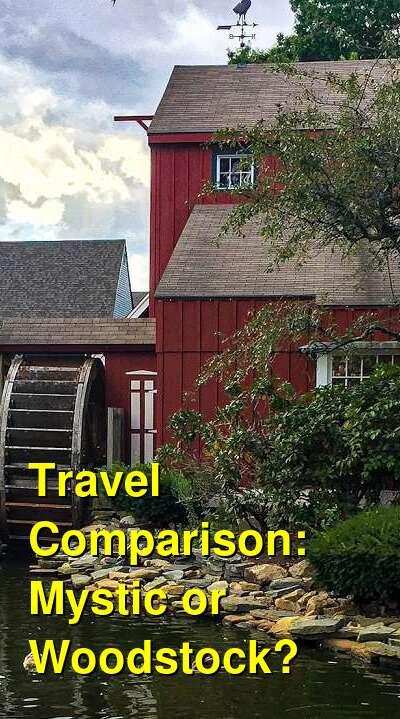 Mystic vs. Woodstock Travel Comparison