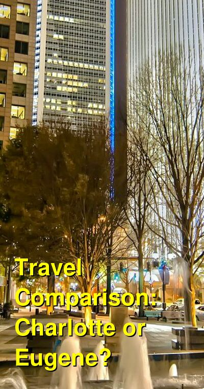 Charlotte vs. Eugene Travel Comparison