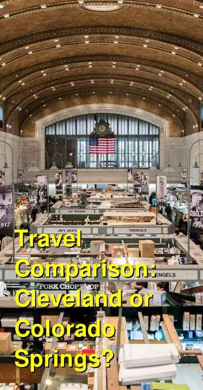Cleveland vs. Colorado Springs Travel Comparison