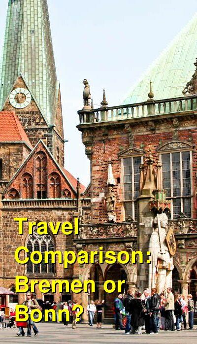 Bremen vs. Bonn Travel Comparison