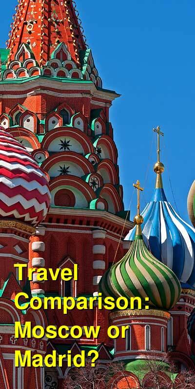 Moscow vs. Madrid Travel Comparison