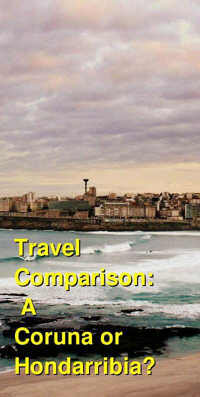 A Coruna vs. Hondarribia Travel Comparison