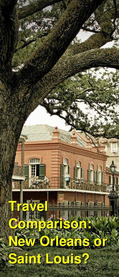 New Orleans vs. Saint Louis Travel Comparison