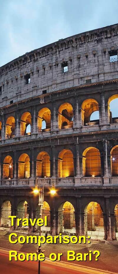 Rome vs. Bari Travel Comparison